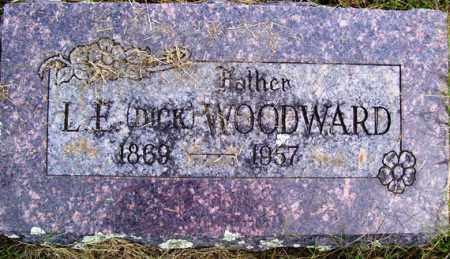 "WOODWARD, L. E. ""DICK"" - Franklin County, Arkansas | L. E. ""DICK"" WOODWARD - Arkansas Gravestone Photos"