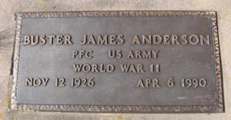ANDERSON (VETERAN WWII), BUSTER JAMES - Fulton County, Arkansas | BUSTER JAMES ANDERSON (VETERAN WWII) - Arkansas Gravestone Photos
