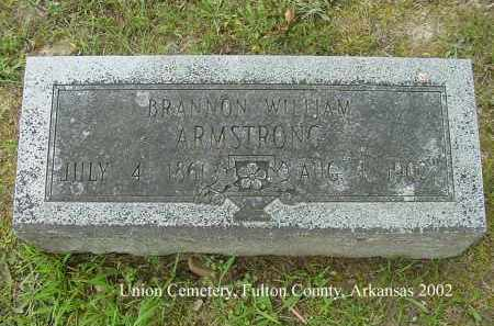 ARMSTRONG, BRANNON WILLIAM - Fulton County, Arkansas | BRANNON WILLIAM ARMSTRONG - Arkansas Gravestone Photos