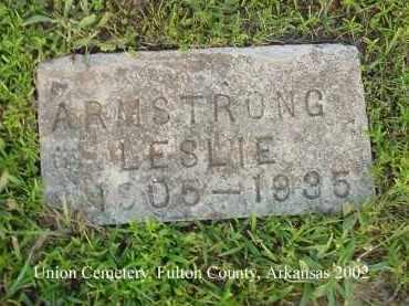 ARMSTRONG, LESLIE - Fulton County, Arkansas | LESLIE ARMSTRONG - Arkansas Gravestone Photos