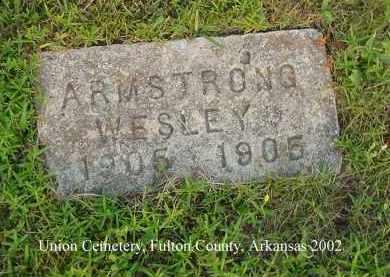ARMSTRONG, WESLEY - Fulton County, Arkansas | WESLEY ARMSTRONG - Arkansas Gravestone Photos