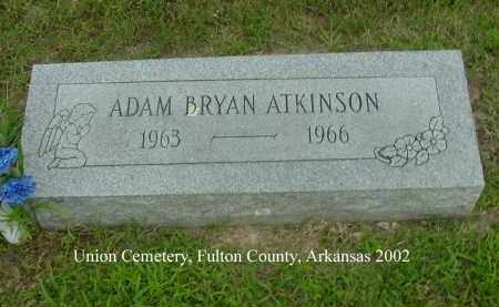 ATKINSON, ADAM BRYAN - Fulton County, Arkansas | ADAM BRYAN ATKINSON - Arkansas Gravestone Photos