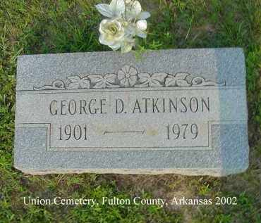 ATKINSON, GEORGE D. - Fulton County, Arkansas | GEORGE D. ATKINSON - Arkansas Gravestone Photos