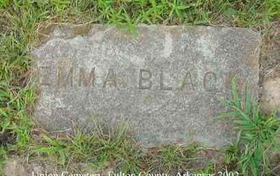 BLACK, EMMA - Fulton County, Arkansas | EMMA BLACK - Arkansas Gravestone Photos