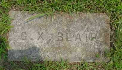 BLAIR, G. X. - Fulton County, Arkansas | G. X. BLAIR - Arkansas Gravestone Photos