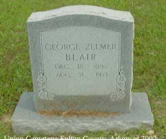 BLAIR, GEORGE ZELMER - Fulton County, Arkansas | GEORGE ZELMER BLAIR - Arkansas Gravestone Photos