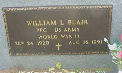 BLAIR  (VETERAN  WWII), WILLIAM LESLIE - Fulton County, Arkansas   WILLIAM LESLIE BLAIR  (VETERAN  WWII) - Arkansas Gravestone Photos