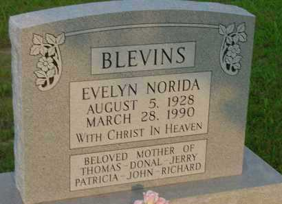 BLEVINS, EVELYN - Fulton County, Arkansas | EVELYN BLEVINS - Arkansas Gravestone Photos