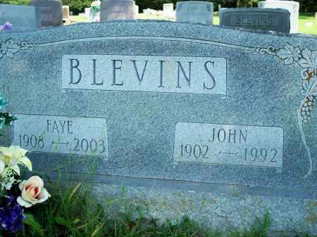 BLEVINS, FAYE - Fulton County, Arkansas | FAYE BLEVINS - Arkansas Gravestone Photos