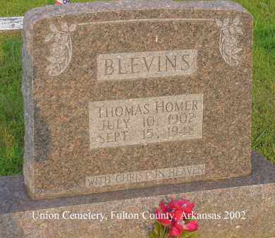 BLEVINS, THOMAS HOMER - Fulton County, Arkansas | THOMAS HOMER BLEVINS - Arkansas Gravestone Photos