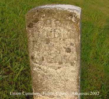 BOWLIN  (VETERAN UNION), WILLIAM - Fulton County, Arkansas | WILLIAM BOWLIN  (VETERAN UNION) - Arkansas Gravestone Photos