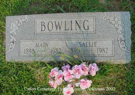 BOWLING, MARY - Fulton County, Arkansas | MARY BOWLING - Arkansas Gravestone Photos