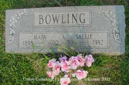 BOWLING, SALLIE - Fulton County, Arkansas | SALLIE BOWLING - Arkansas Gravestone Photos