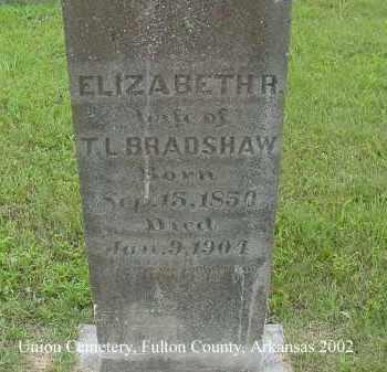 BRADSHAW, ELIZABETH R. - Fulton County, Arkansas | ELIZABETH R. BRADSHAW - Arkansas Gravestone Photos