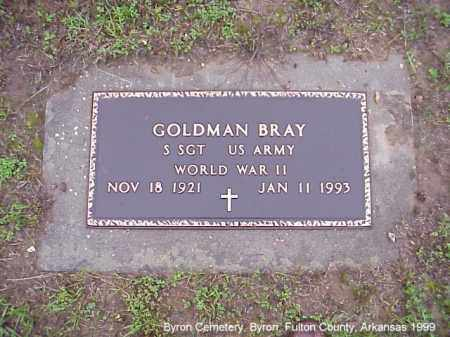 BRAY  (VETERAN WWII), GOLDMAN - Fulton County, Arkansas | GOLDMAN BRAY  (VETERAN WWII) - Arkansas Gravestone Photos
