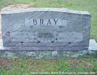 BRAY, PETER BENJAMIN - Fulton County, Arkansas | PETER BENJAMIN BRAY - Arkansas Gravestone Photos