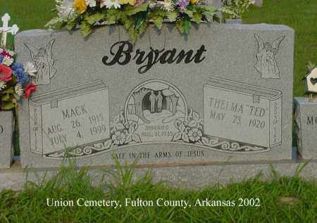 BRYANT, MACK - Fulton County, Arkansas | MACK BRYANT - Arkansas Gravestone Photos