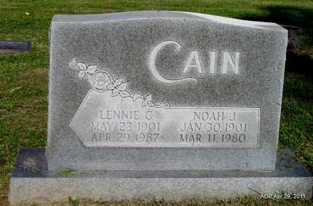 CAIN, LENNIE C - Fulton County, Arkansas | LENNIE C CAIN - Arkansas Gravestone Photos