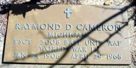 CAMERON (VETERAN WWII), RAYMOND D - Fulton County, Arkansas | RAYMOND D CAMERON (VETERAN WWII) - Arkansas Gravestone Photos