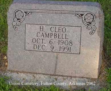 CAMPBELL, H. CLEO - Fulton County, Arkansas   H. CLEO CAMPBELL - Arkansas Gravestone Photos