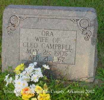 CAMPBELL, ORA ALMA - Fulton County, Arkansas | ORA ALMA CAMPBELL - Arkansas Gravestone Photos