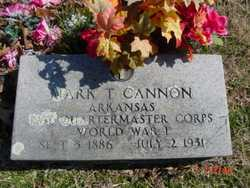 CANNON  (VETERAN WWI), MARK T - Fulton County, Arkansas | MARK T CANNON  (VETERAN WWI) - Arkansas Gravestone Photos