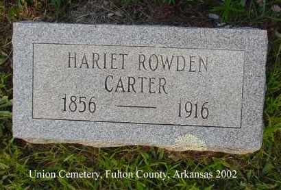 CARTER, HARIET - Fulton County, Arkansas | HARIET CARTER - Arkansas Gravestone Photos