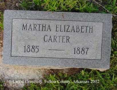 CARTER, MARTHA ELIZABETH - Fulton County, Arkansas | MARTHA ELIZABETH CARTER - Arkansas Gravestone Photos