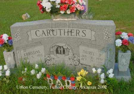 CARUTHERS, DAIREL D. - Fulton County, Arkansas | DAIREL D. CARUTHERS - Arkansas Gravestone Photos