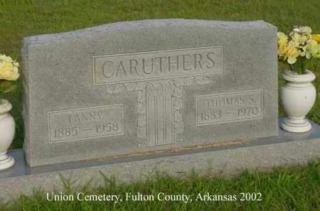 CARUTHERS, FANNY - Fulton County, Arkansas | FANNY CARUTHERS - Arkansas Gravestone Photos