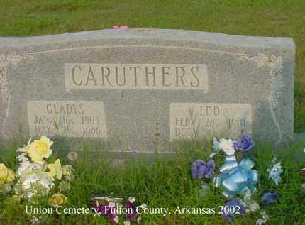 CARUTHERS, GLADYS - Fulton County, Arkansas | GLADYS CARUTHERS - Arkansas Gravestone Photos