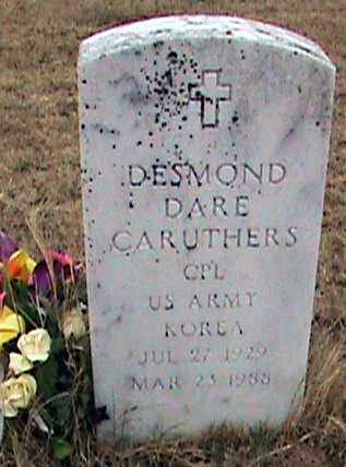 CARUTHERS (VETERAN KOR), DESMOND DARE - Fulton County, Arkansas | DESMOND DARE CARUTHERS (VETERAN KOR) - Arkansas Gravestone Photos