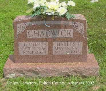 CHADWICK, CHARLES BRADLEY - Fulton County, Arkansas | CHARLES BRADLEY CHADWICK - Arkansas Gravestone Photos