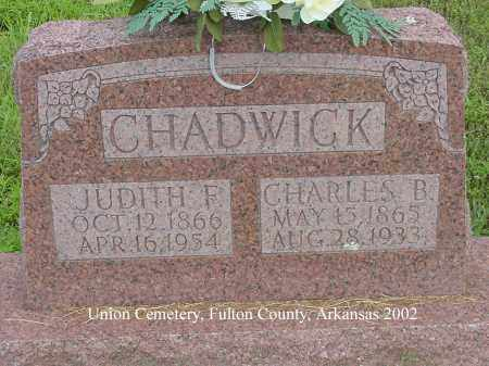 CHADWICK, JUDITH FRANCES - Fulton County, Arkansas | JUDITH FRANCES CHADWICK - Arkansas Gravestone Photos