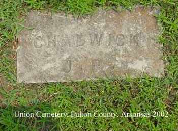 CHADWICK, J. P. - Fulton County, Arkansas | J. P. CHADWICK - Arkansas Gravestone Photos