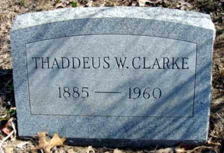 CLARKE, THADDEUS W. - Fulton County, Arkansas | THADDEUS W. CLARKE - Arkansas Gravestone Photos