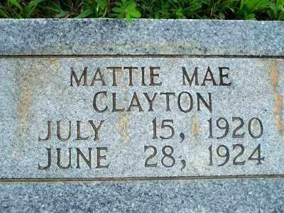 CLAYTON, MATTIE MAE - Fulton County, Arkansas | MATTIE MAE CLAYTON - Arkansas Gravestone Photos