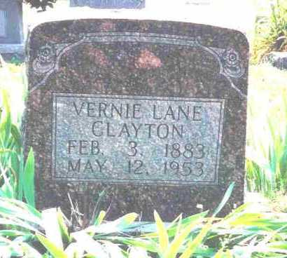 CLAYTON, VERNIE LANE - Fulton County, Arkansas | VERNIE LANE CLAYTON - Arkansas Gravestone Photos