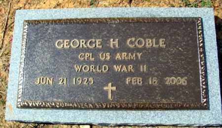 COBLE (VETERAN WWII), GEORGE H - Fulton County, Arkansas | GEORGE H COBLE (VETERAN WWII) - Arkansas Gravestone Photos