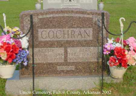COCHRAN, BESSIE - Fulton County, Arkansas | BESSIE COCHRAN - Arkansas Gravestone Photos