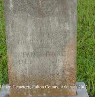 COCHRAN, E. R. - Fulton County, Arkansas | E. R. COCHRAN - Arkansas Gravestone Photos