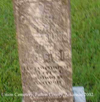 COCHRAN, J. S. - Fulton County, Arkansas | J. S. COCHRAN - Arkansas Gravestone Photos