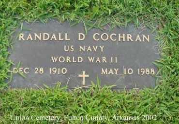 COCHRAN  (VETERAN WWII), RANDALL DAVIS - Fulton County, Arkansas | RANDALL DAVIS COCHRAN  (VETERAN WWII) - Arkansas Gravestone Photos