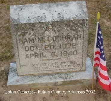 COCHRAN, SAMUEL MUELLER - Fulton County, Arkansas | SAMUEL MUELLER COCHRAN - Arkansas Gravestone Photos