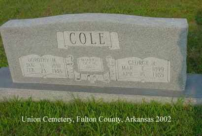 COLE, GEORGE R. - Fulton County, Arkansas | GEORGE R. COLE - Arkansas Gravestone Photos