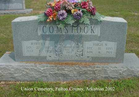 COMSTOCK, MYRTLE E. - Fulton County, Arkansas | MYRTLE E. COMSTOCK - Arkansas Gravestone Photos
