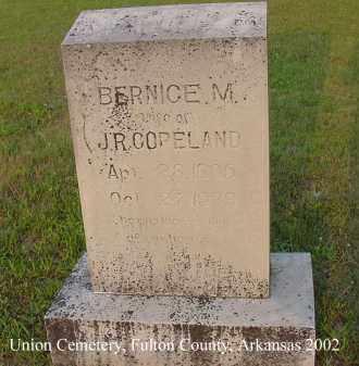 COPELAND, BERNICE M. - Fulton County, Arkansas | BERNICE M. COPELAND - Arkansas Gravestone Photos