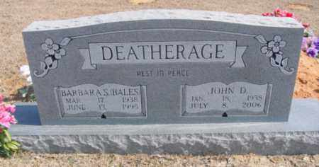 BALES DEATHERAGE, BARBARA S. - Fulton County, Arkansas | BARBARA S. BALES DEATHERAGE - Arkansas Gravestone Photos