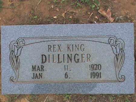 DILLINGER, REX KING - Fulton County, Arkansas | REX KING DILLINGER - Arkansas Gravestone Photos