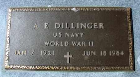 DILLINGER (VETERAN WWII), A E - Fulton County, Arkansas | A E DILLINGER (VETERAN WWII) - Arkansas Gravestone Photos